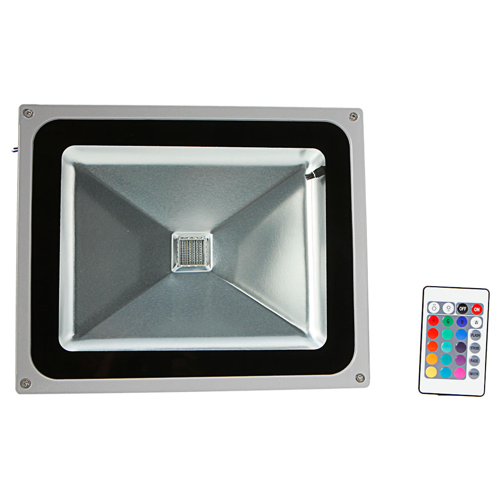 50W RGB LED Flood Lamp Outdoor Spotlight Garden Landscape