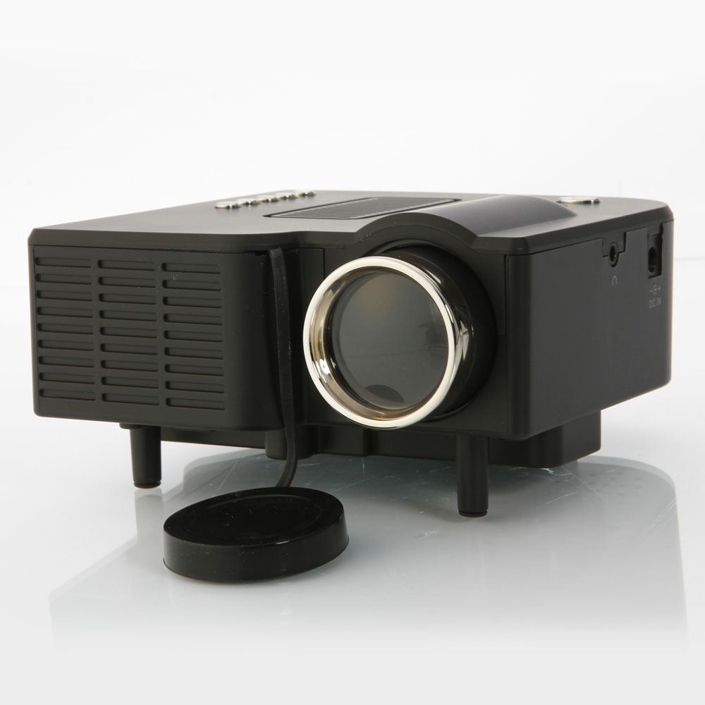 Home cinema theater portable mini led lcd projector 1080p for Mini portable projector