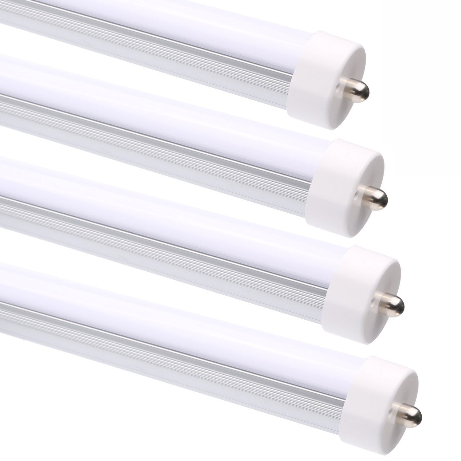Led Light Fixture Too Bright: 8FT T8 T12 FA8 40W Single Pin LED Tube Light Fixture Clear